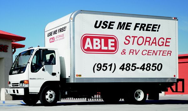 Able Storage Free Truck And Driver To Help You Move In